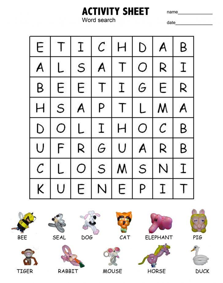Dog Word Search Printable