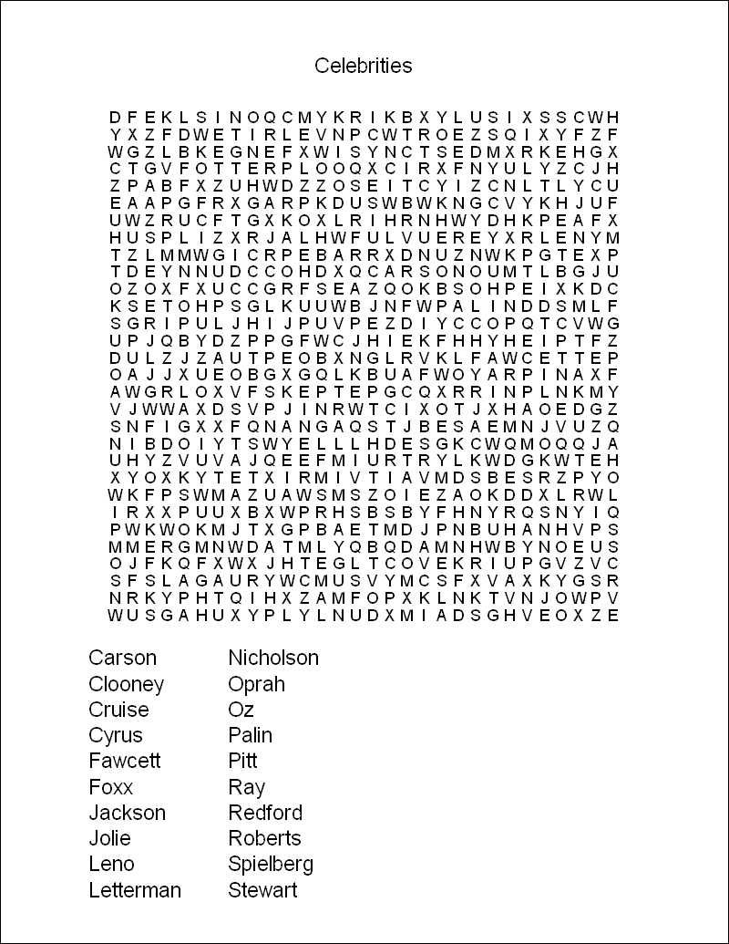 Printable Word Search Puzzles | Free Printable Word Search