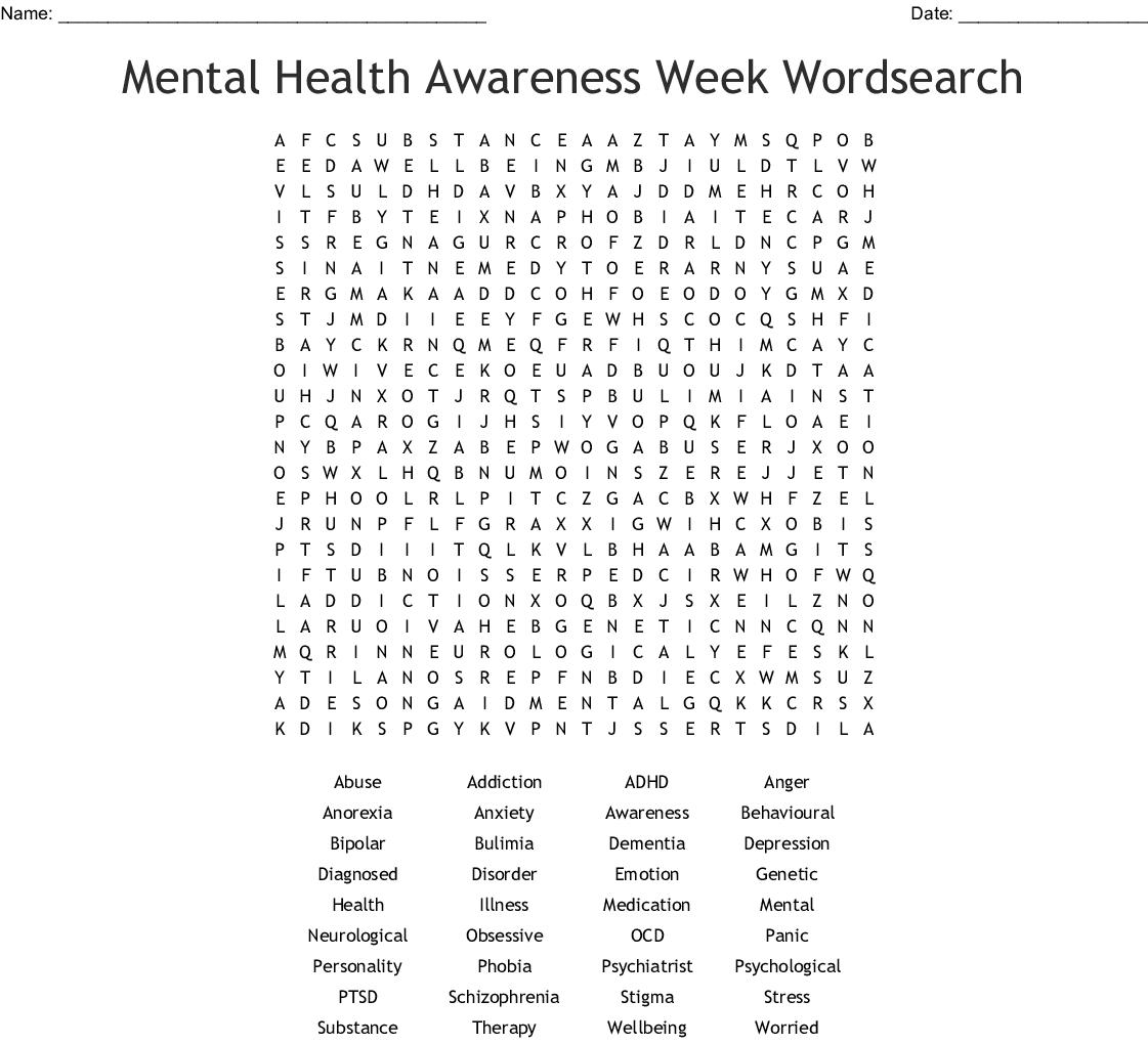 Psychology Word Search - Wordmint