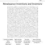 Renaissance Inventions And Inventors Word Search   Wordmint