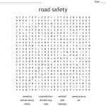 Road Safety Word Search   Wordmint