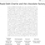 Roald Dahl Charlie And The Chocolate Factory Word Search