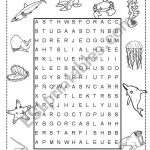 Sea Animals Wordsearch   Esl Worksheetineta