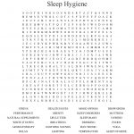 Sleep Hygiene Word Search   Wordmint