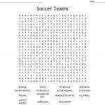 Soccer Teams Word Search   Wordmint
