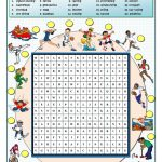 Sports Wordsearch   English Esl Worksheets For Distance