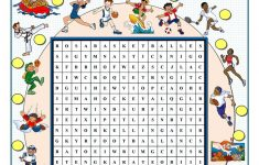 Sports Wordsearch – English Esl Worksheets For Distance