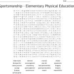 Sportsmanship   Elementary Physical Education Word Search