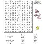 Spring Word Search Printable Postedryan Simpson
