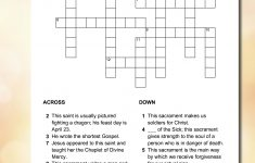 St George & Sacraments Crossword | Sacrament, Printable