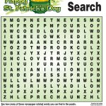 St. Patrick's Day Word Search | St Patrick Day Activities