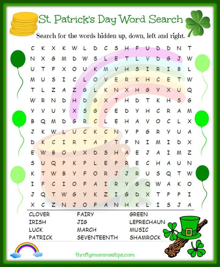 St Patrick Word Search Printable