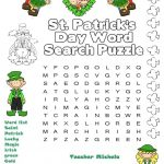 St.patrick's Day Wordsearch   English Esl Worksheets For