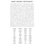 Summer Holidays Word Search   Wordmint