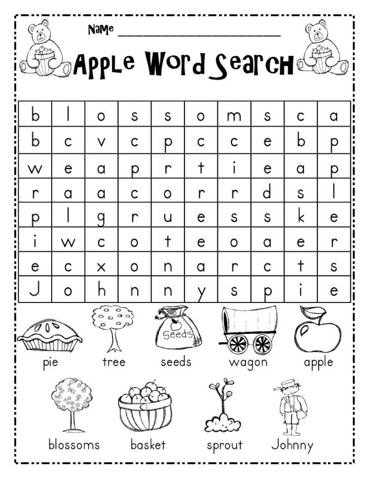 Grade 1 Word Search Printable