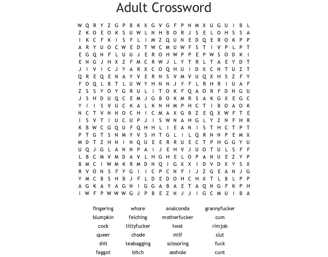 Swear Words Word Search - Wordmint