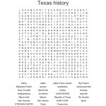 Texas History Word Search   Wordmint