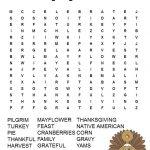 Thanksgiving Word Search Free Printable | Thanksgiving Word