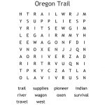The Oregon Trail Word Search   Wordmint