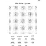 The Solar System Word Search   Wordmint
