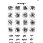 The Vikings Word Search   Wordmint