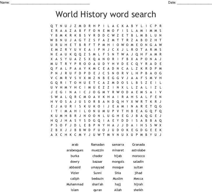 Islamic Word Search Printable