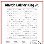 This Martin Luther King Jr. Word Search Printable Worksheet