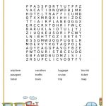 Travel Word Search Printable | Travel Words, Travel Tips