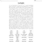 Twilight Saga Word Search   Wordmint
