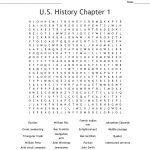 U.s. History Chapter 1 Word Search   Wordmint