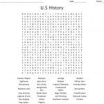 U.s History Word Search   Wordmint