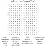 Vale On The Oregon Trail Word Search   Wordmint