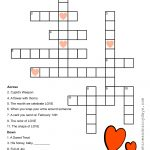 Valentine Crossword Puzzle | Crossword, Valentines Day Words