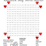 Valentine Word Search And Puzzles – Coloring.rocks!