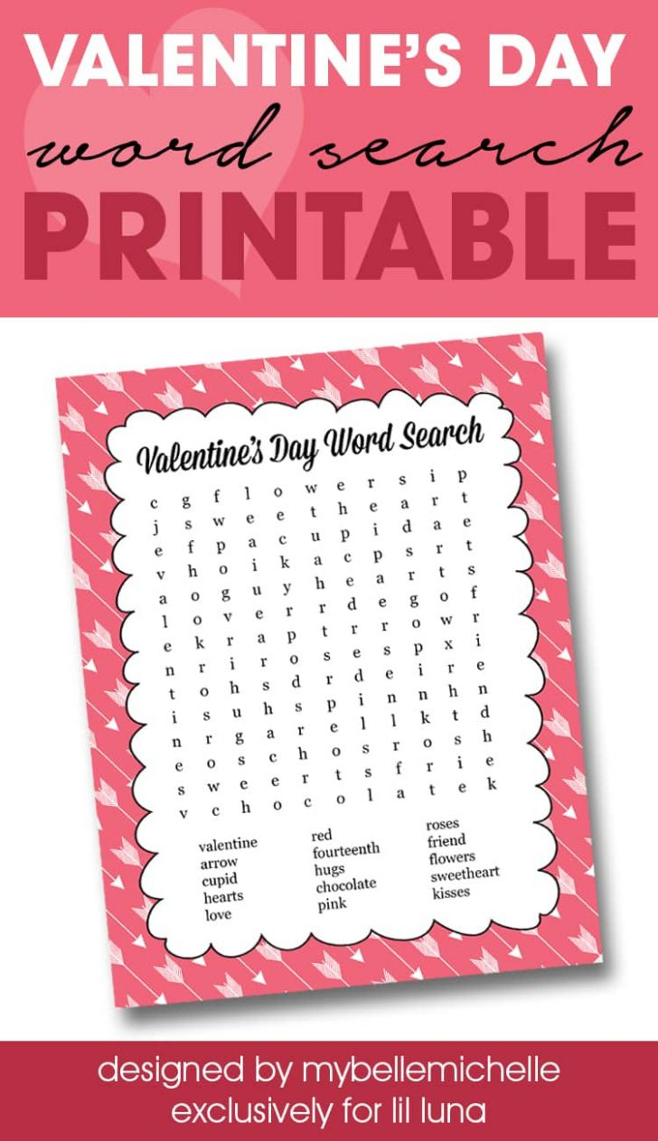 Valentines Word Search Printable
