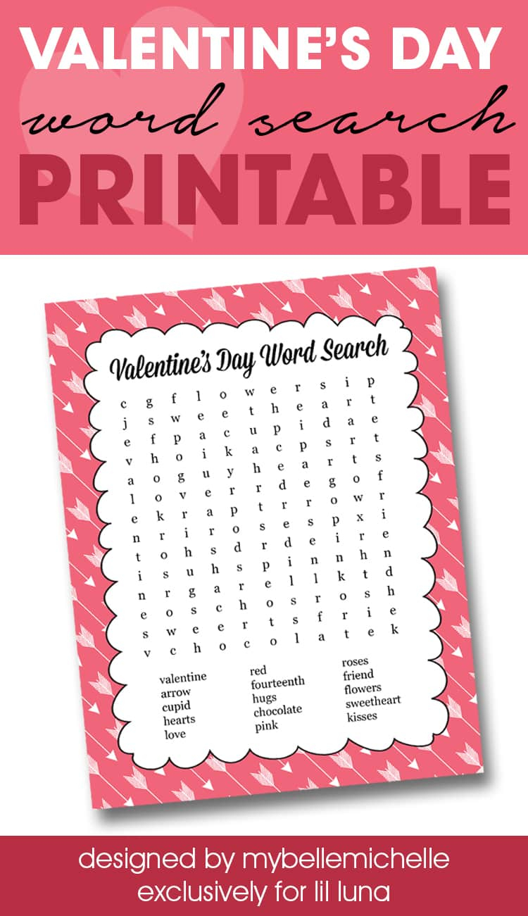 Valentine's Day Word Search Print