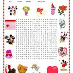 Valentine's Day Wordsearch   English Esl Worksheets For