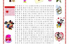 Valentine's Day Wordsearch – English Esl Worksheets For