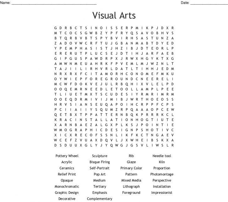 Art Word Search Printable