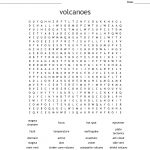 Volcanoes Word Search   Wordmint