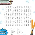 Winter Games Bible Word Search | Winter Words, Winter