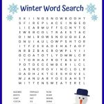 Winter Word Search Free Printable | Winter Words, Winter