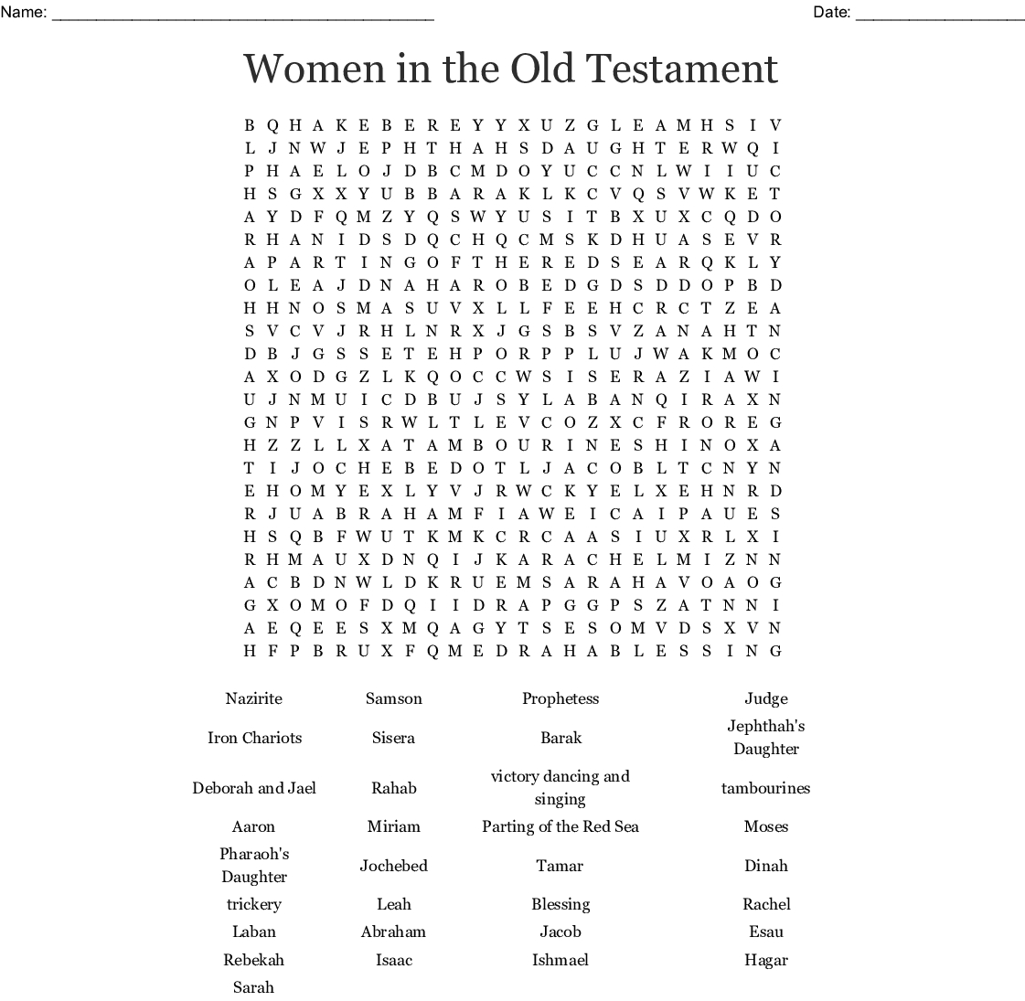 Women Bible Worksheets | Printable Worksheets And Activities