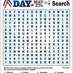 Word Search For Memorial Day | Memories, Writing Paper