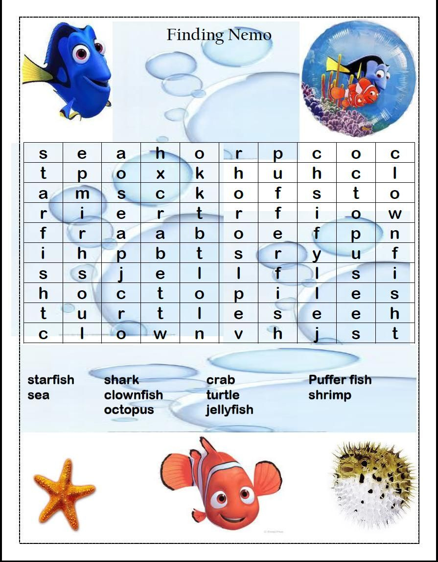 Word Search Games | Disney Cruise Fish Extender Gifts
