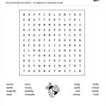 Word Search: (Science) Insects   Childrens Worksheets, Kids