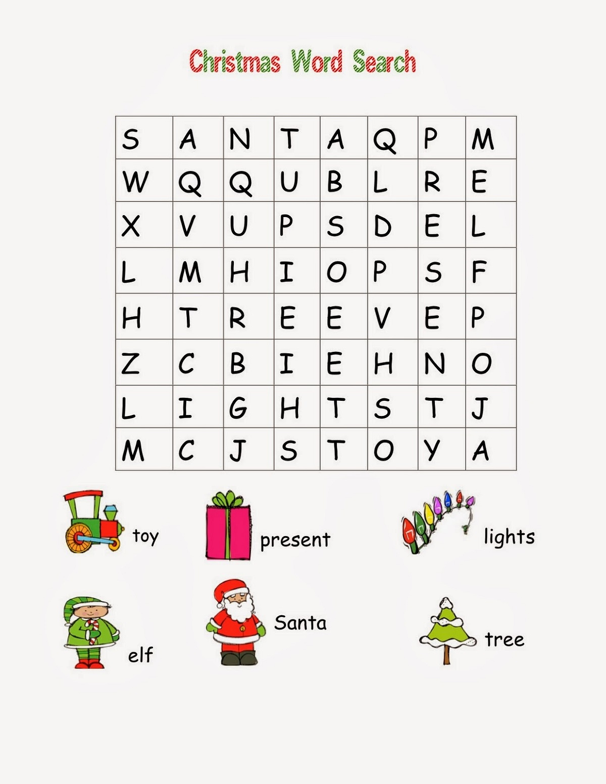 Word Searches For Kids Easy | Loving Printable
