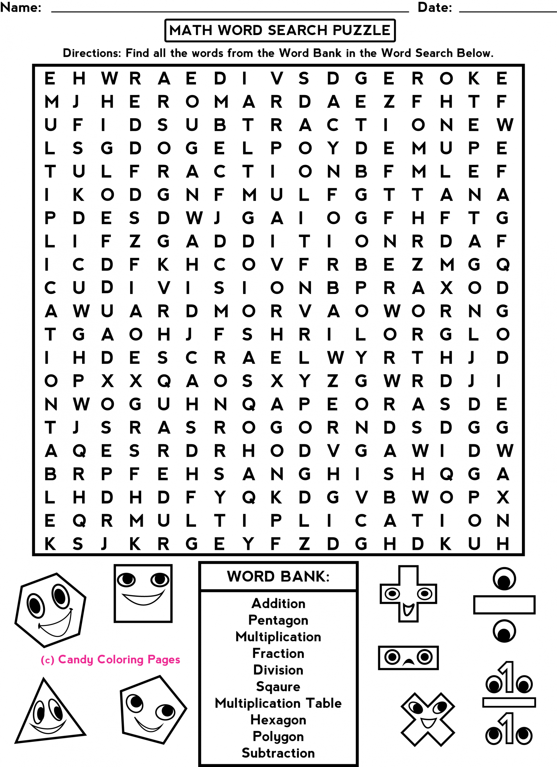 Word Searches Such As This One Will Help The Students Get