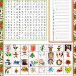 Wordsearch   Christmas   English Esl Worksheets For Distance