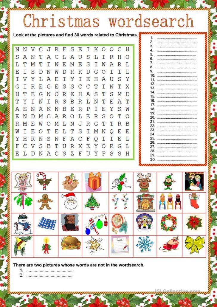 French Christmas Word Search Printable